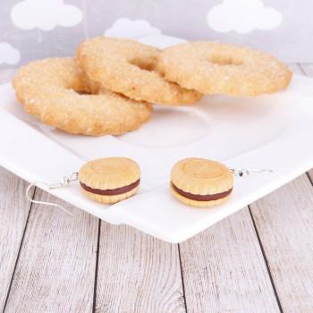 Markizy Ciasteczka Biscuit Czekoladowe - kolczyki wiszące