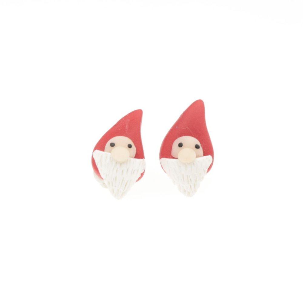 Kolczyki Mikołaje świąteczne sztyfty