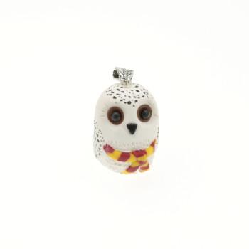 Sówka sowa Hedwiga dla fanów Harrego wisiorek naszyjnik