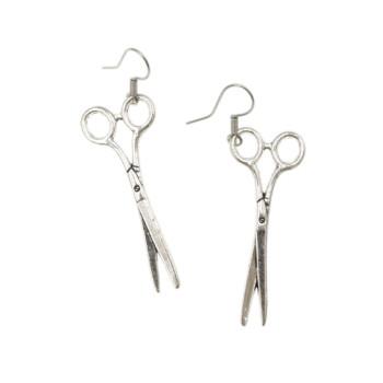 Kolczyki nożyczki - wiszące kolczyki dla krawcowej, fryzjerki