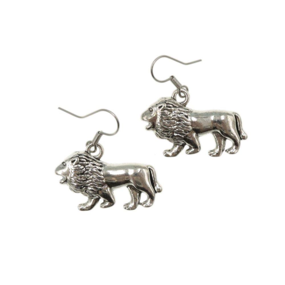 Lew kolczyki znaki zodiaku lwy - kolczyki wiszące