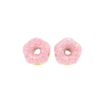 Kolczyki pączki donaty oponki sztyfty donut pączek Stal Chirurgiczna