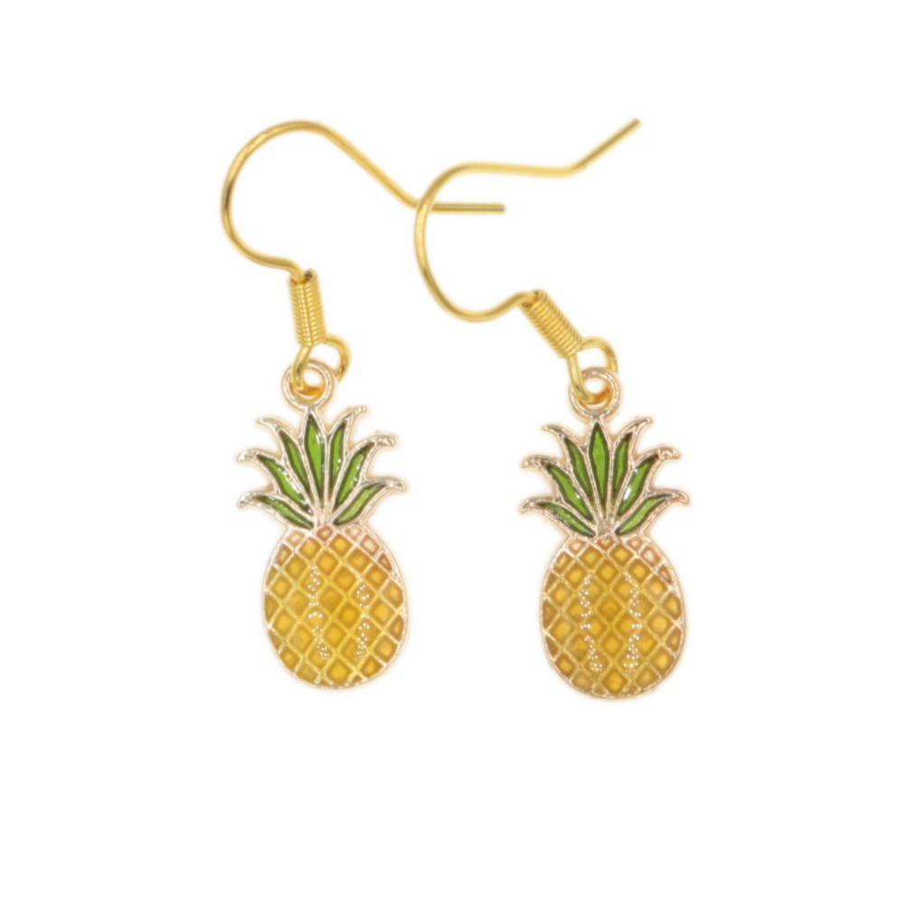 Ananas kolczyki wiszące Ananasy
