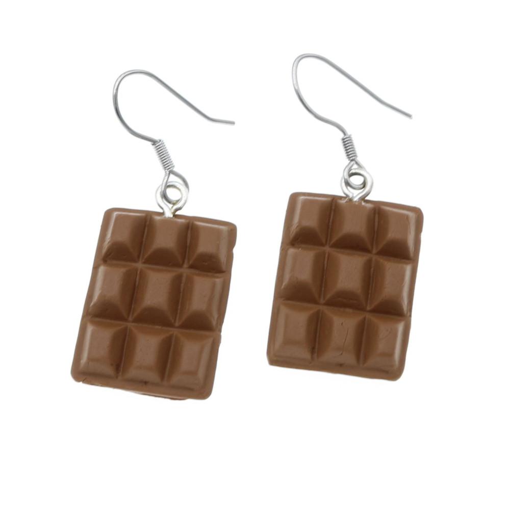 Czekoladki kolczyki wiszące - czekolada