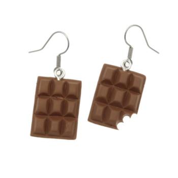Czekoladki 21mm kolczyki czekolada - wiszące stal chirurgiczna