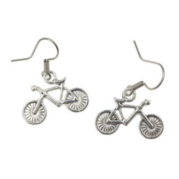 Rower, rowery kolczyki - bigle stal