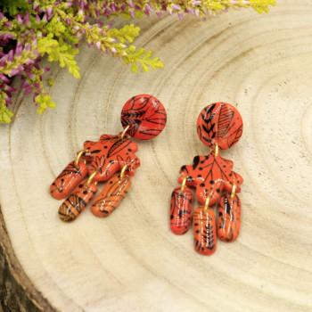 Liść Klonu - kolczyki sztyfty
