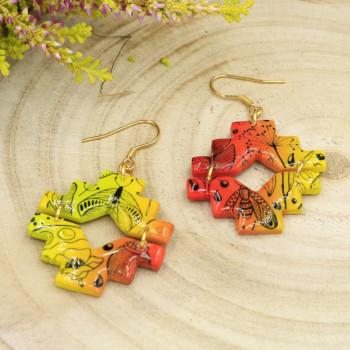 Kolczyki wiszące - jesienna łąka - kolekcja jesień 2021
