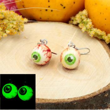 Straszne kolczyki oczy - kolczyki gałka oczna na Halloween
