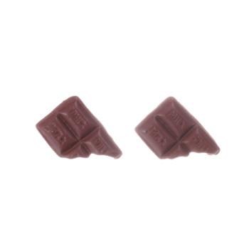 Czekolada sztyfciki 19mm kolczyki czekoladki, czekoladka, czekoladowe ciemna czekolada