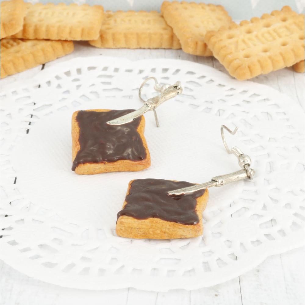 Tost z masłem orzechowym a'la Nutella