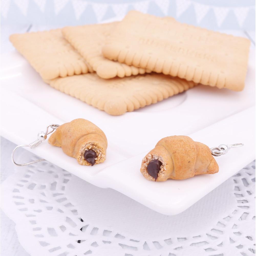 Rogaliki z nadzieniem, kolczyki wiszące, rogal, rogalik Croissants