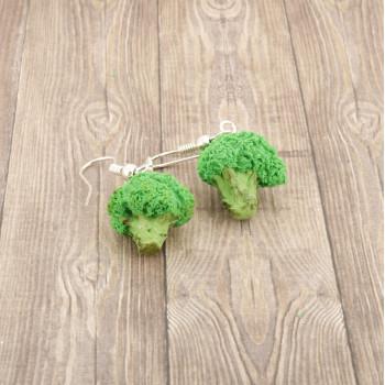 Brokuły - kolczyki wiszące