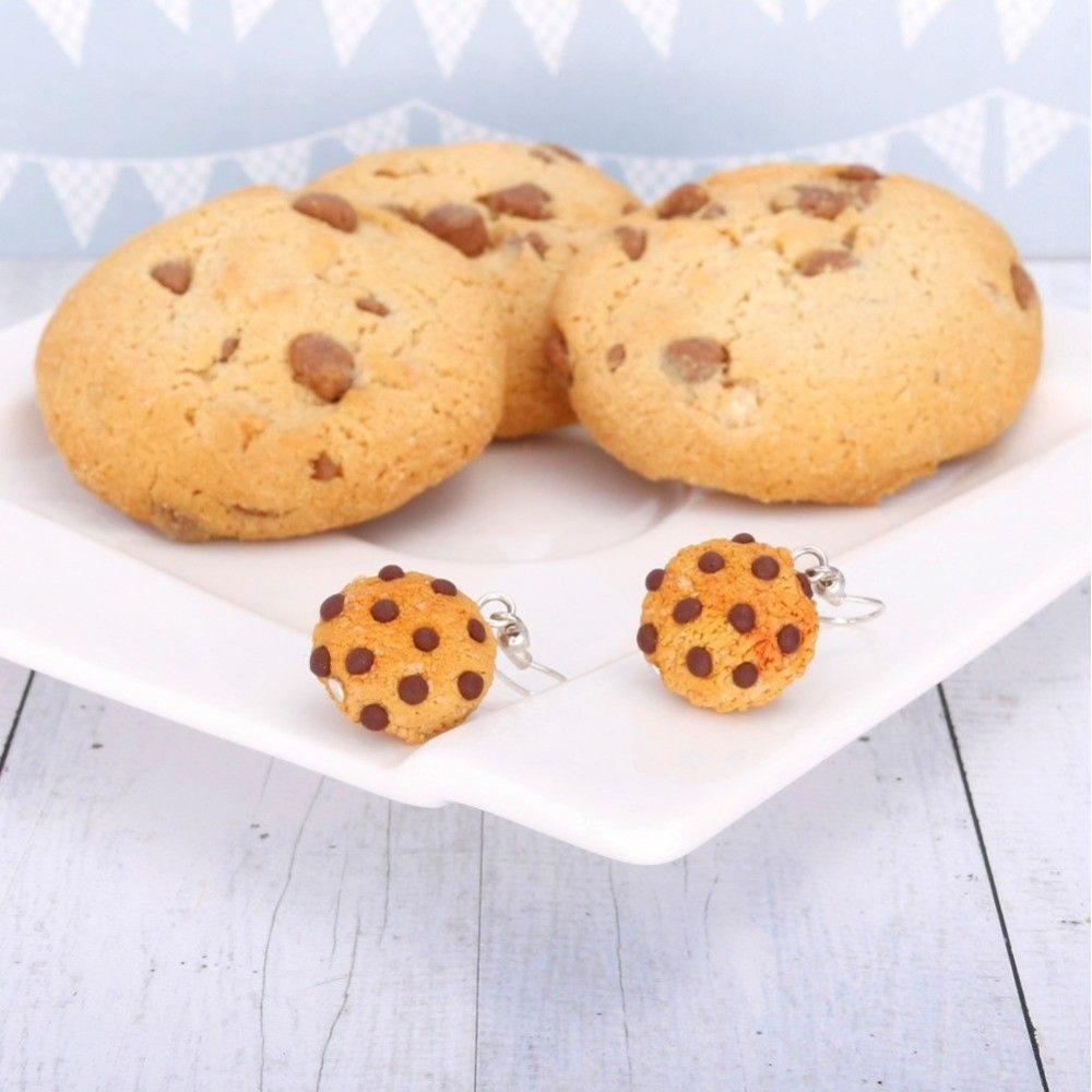 Pieguski ciasteczka – kolczyki wiszące