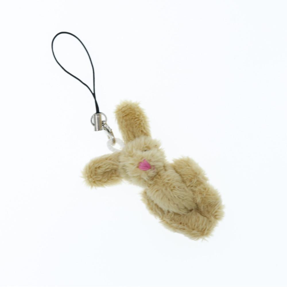 Mechaty króliczek beżowy breloczek zwieszka króliś