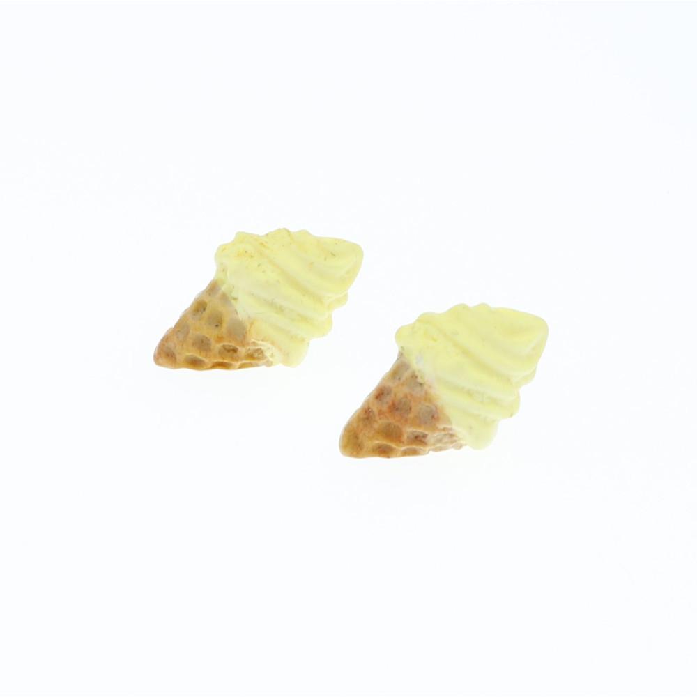 Lody kolczyki sztyfty 1,8x1,6 bananowy