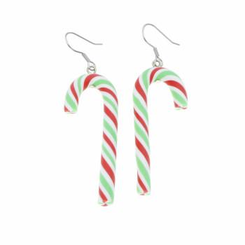 Laseczki cukrowe 4,8cm kolczyki świąteczne wiszące długie
