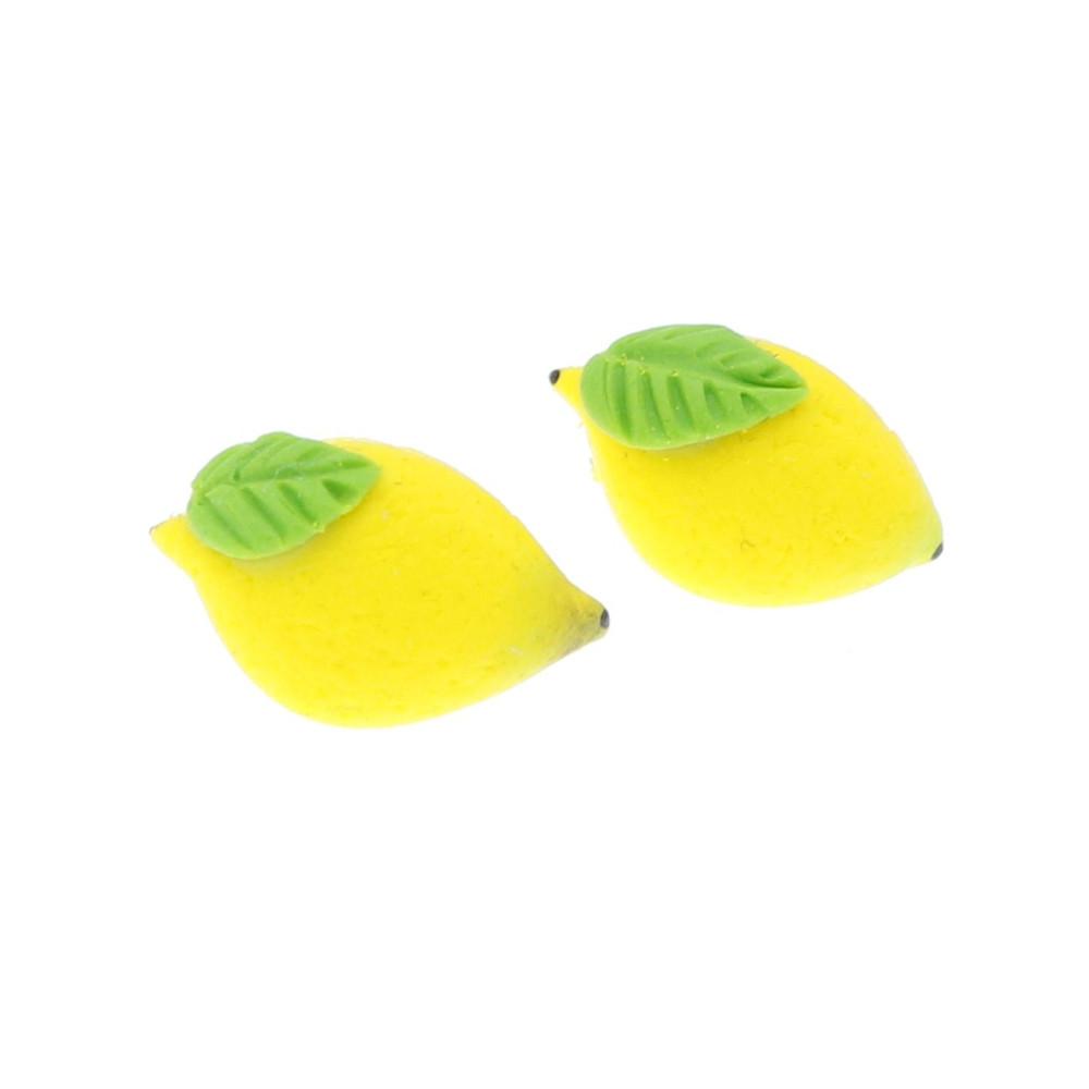 Cytryny 1,5cm Cytryna kolczyki wtykane