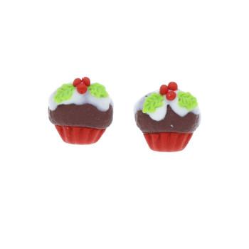 Muffinki 15mm świąteczne babeczki w polewie - ostrokrzew