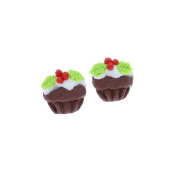 Muffinki 11mm świąteczne babeczki w polewie - ostrokrzew