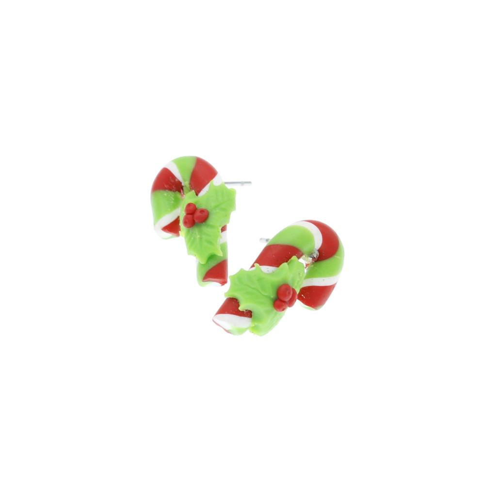 Laseczki 16mm cukrowe kolczyki świąteczne wtykane