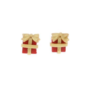 Prezenty świąteczne 12mm kolczyki sztyfty