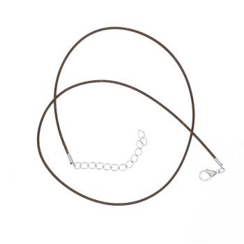Rzemyk rzemień 43cm + łańcuszek 5cm Grubość 2mm