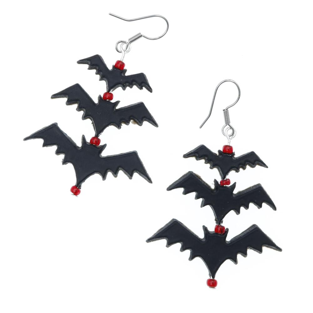 Kolczyki Nietoperze 38mm Halloween Gacek Batman