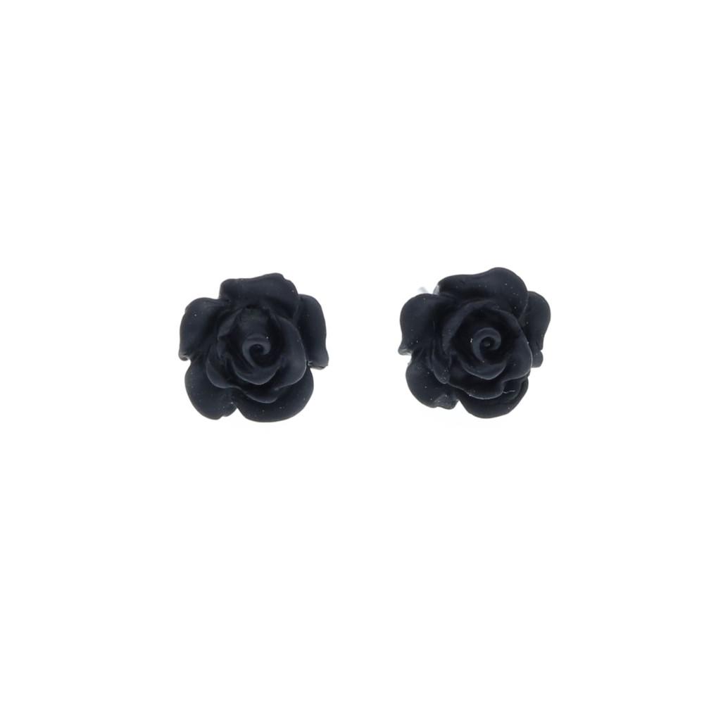 Kwiatki czarne róże 10mm malutkie sztyfciki różyczki kwiatuszki