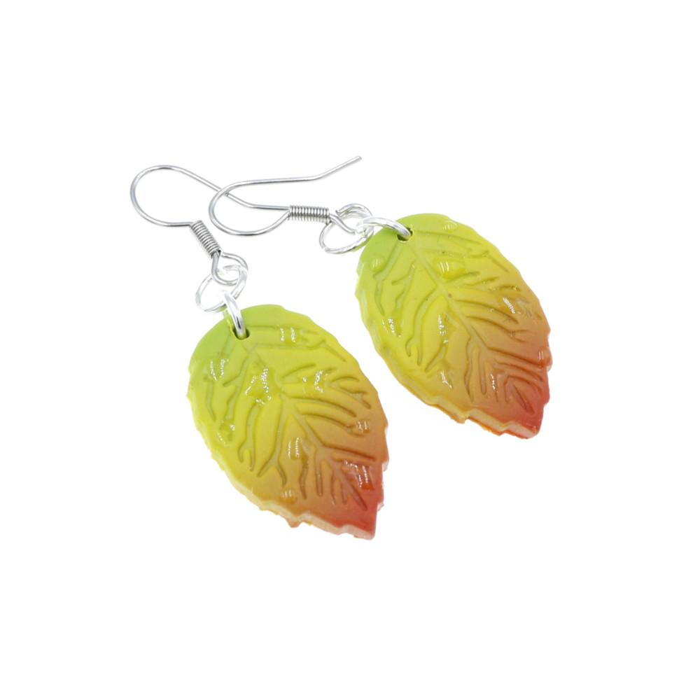 Kolczyki liście buku jesienne buczyna- wiszące