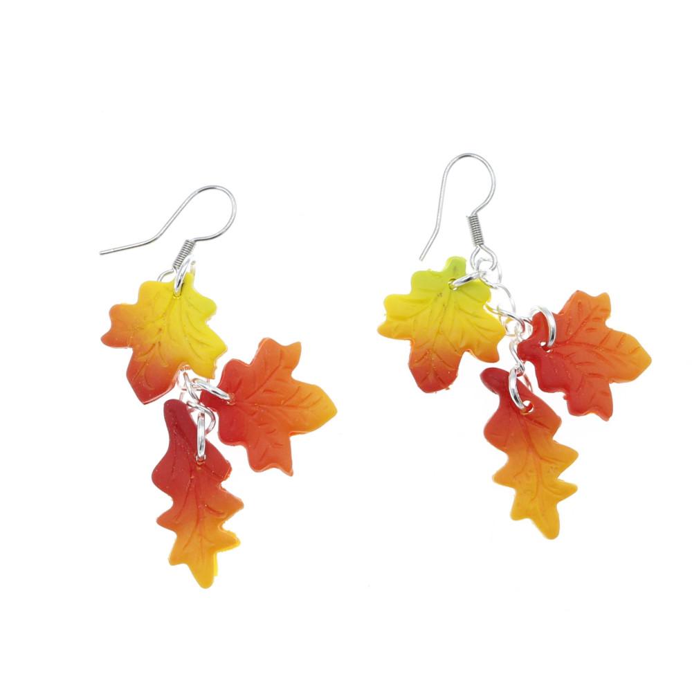 Kolczyki liście jesienne - wiszące