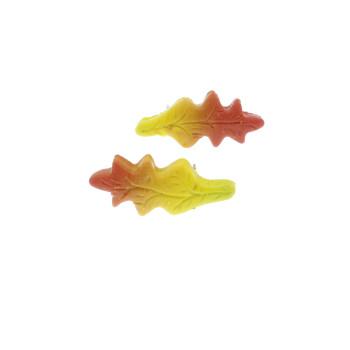 Kolczyki liście 23mm dębu jesienne - wtykane