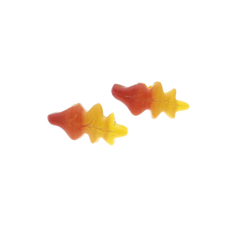 Kolczyki liście dębu jesienne - wtykane
