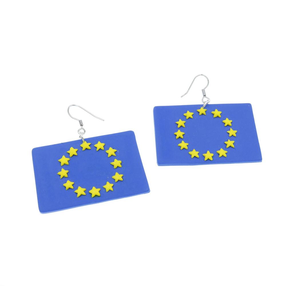 Flag europejska 29mm kolczyki wiszące