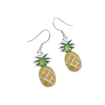Ananas kolczyki 24mm wiszące Ananasy