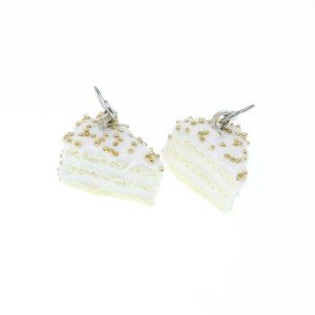 Tort 10mm z posypką kolczyki wiszące