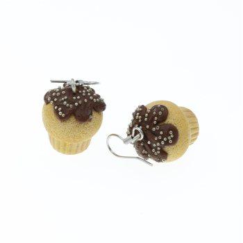 Muffinki z posypką 19mm kolczyki wiszące