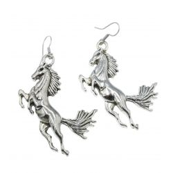 Koń, konie - kolczyki wiszące duże