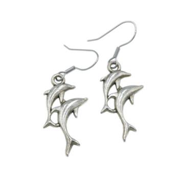 Para delfinów - kolczyki wiszące