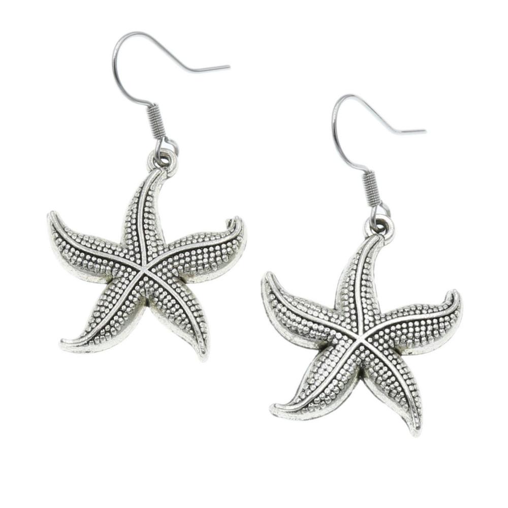 Rozgwiazda - kolczyki wiszące