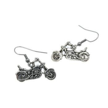 Motocykl, motor - kolczyki wiszące