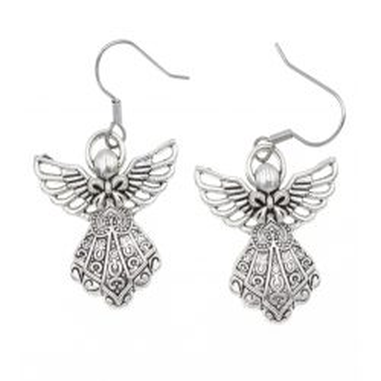 Aniołek, aniołki 26mm kolczyki aniołki ze stali chirurgicznej anioły