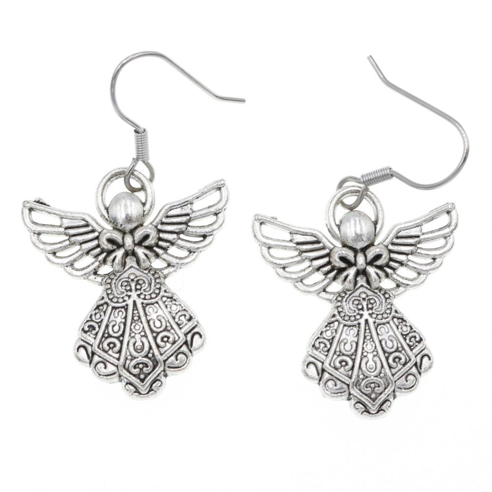 Aniołek, aniołki 26mm kolczyki wiszące
