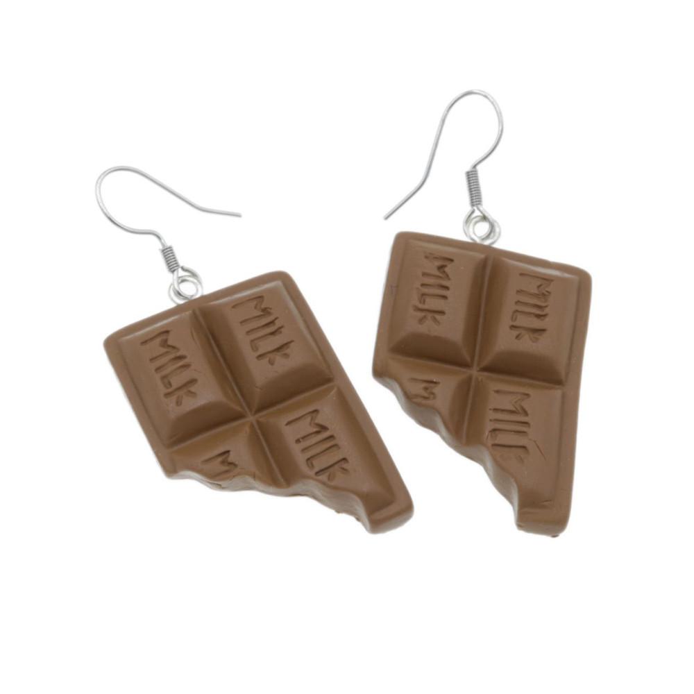 Kolczyki czekoladki wiszące kolczyki czekolada 3,1cm