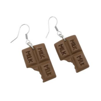 Kolczyki czekoladki wiszące kolczyki czekolada 2,6cm
