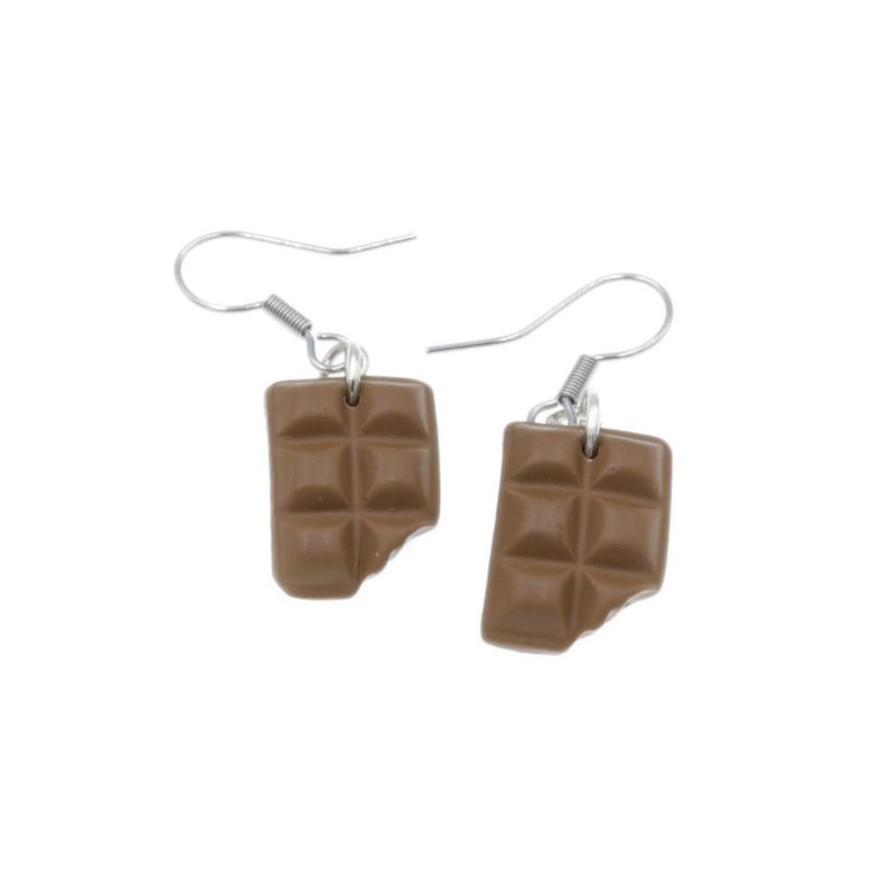 Kolczyki czekoladki wiszące kolczyki czekolada 1,6cm