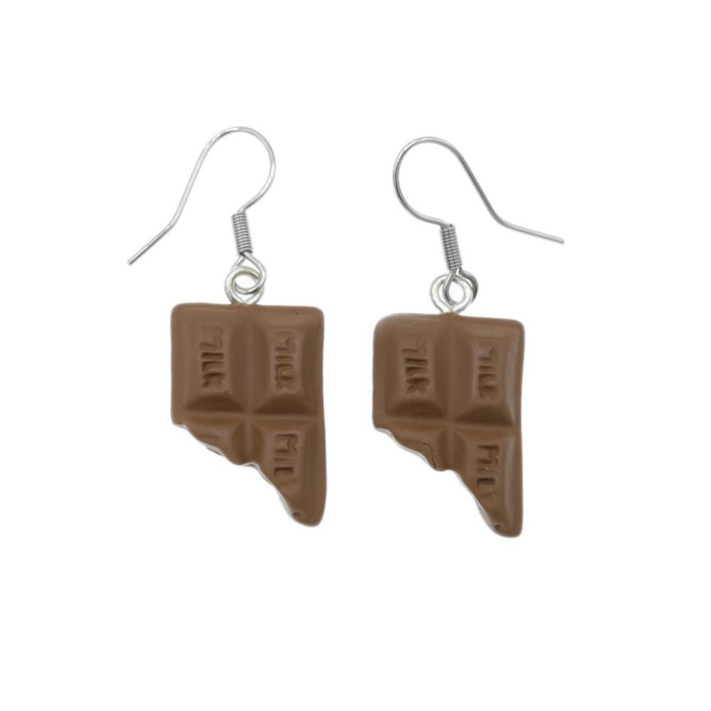 Kolczyki czekoladki wiszące kolczyki czekolada 1,9cm