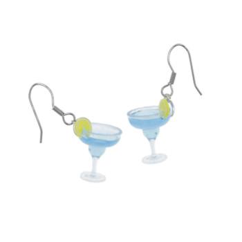 Kolczyki drink kieliszki kolczyki wiszące drinki na imprezę