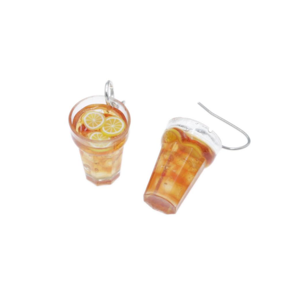 Kolczyki herbata mrożona kolczyki herbatki wiszące drink