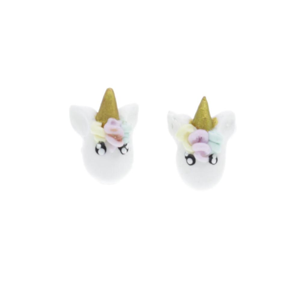 Jednorożce Unicorny sztyfty wys.1cm kolczyki Unicorn